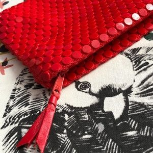 Vintage Roger Gimbel 1970's Red Pouch Mini Bag